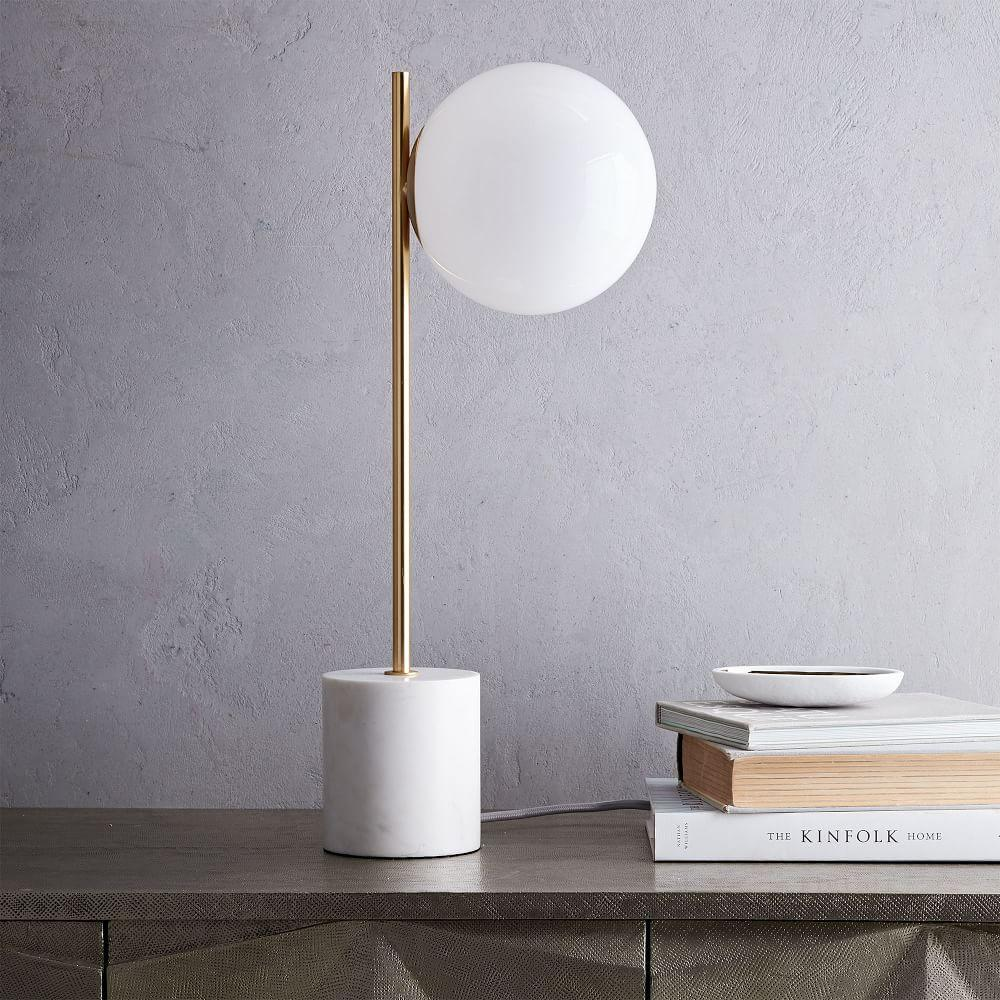 Sphere Stem Table Lamp West Elm Australia