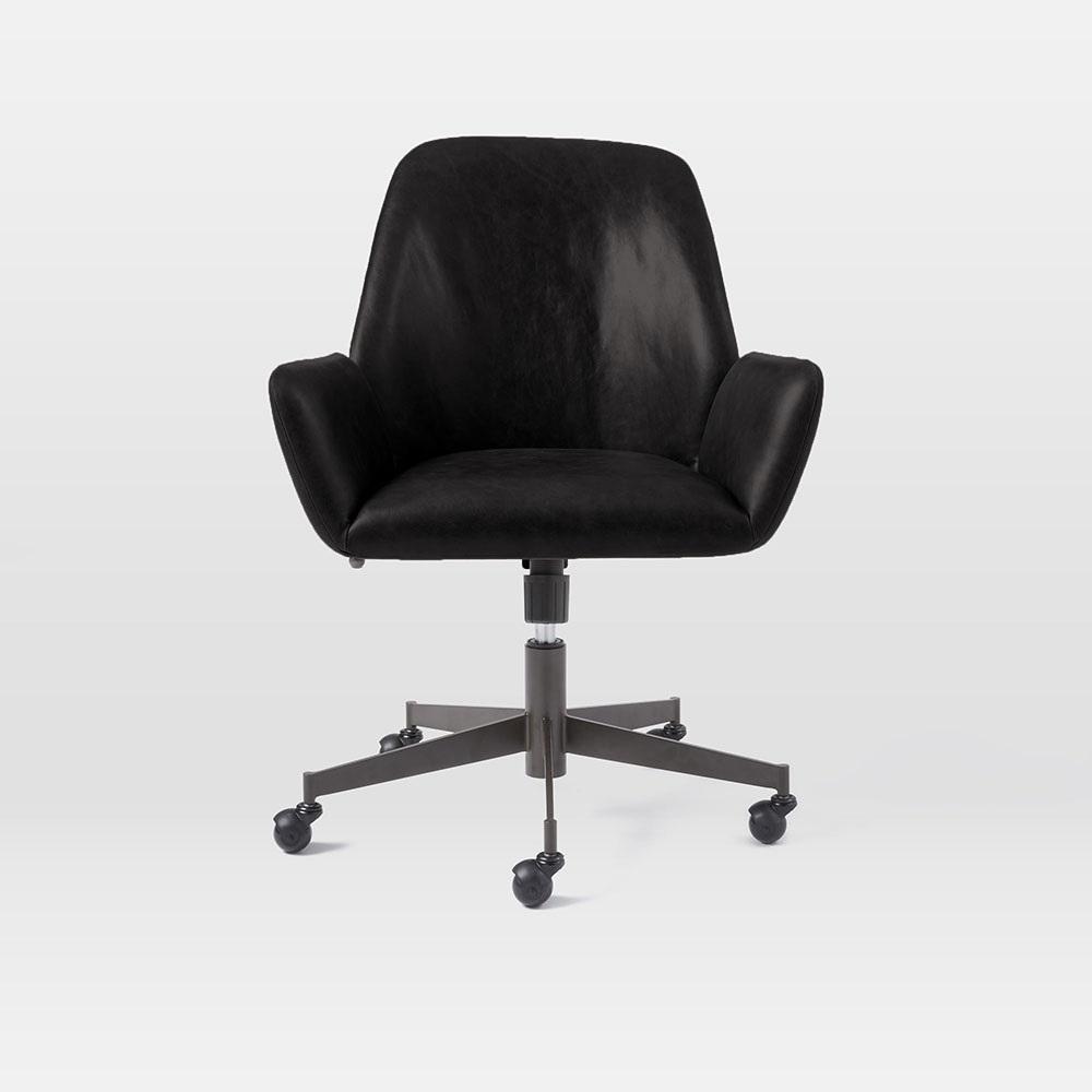 Aluna Leather Office Chair West Elm Australia