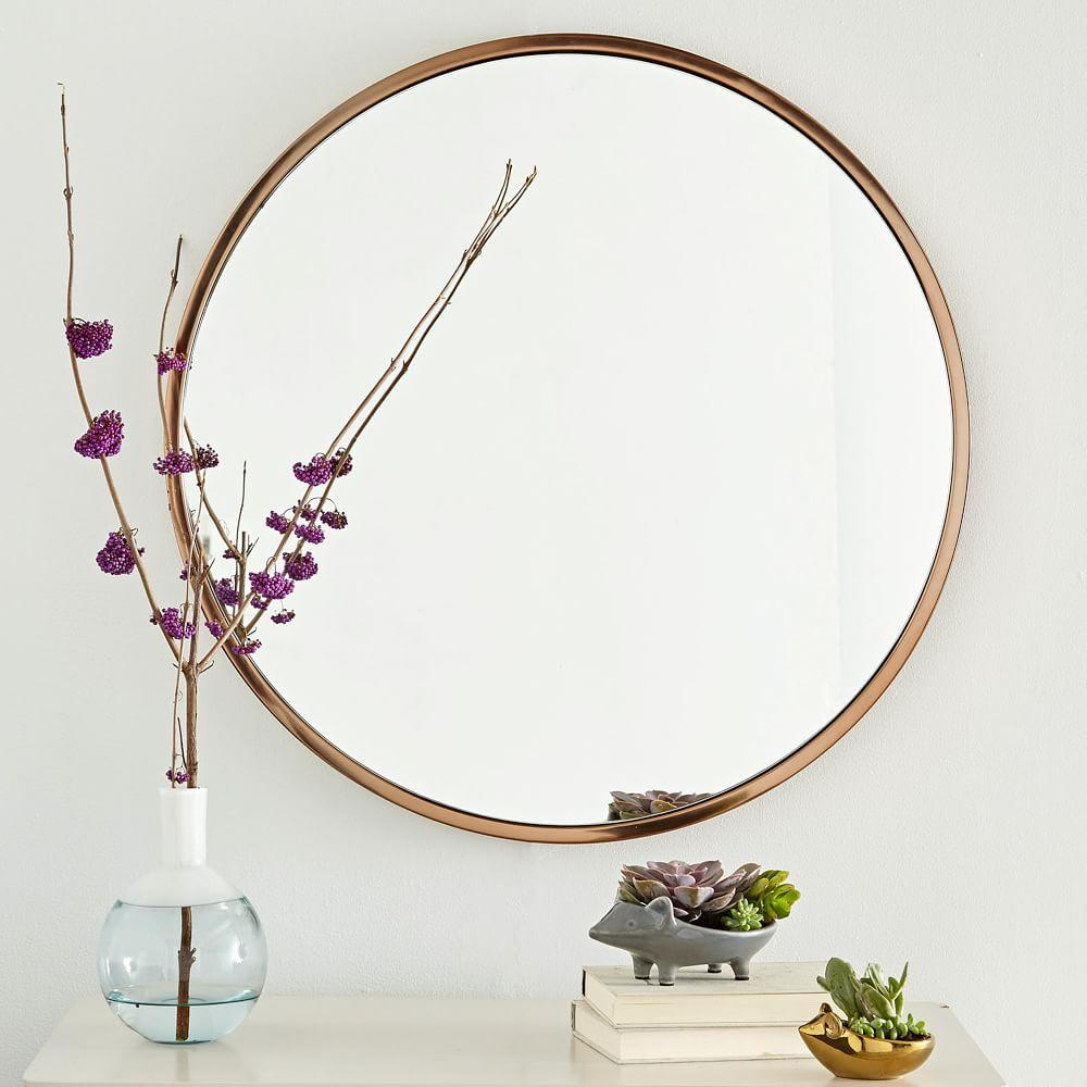 Metal Framed Round Wall Mirror West Elm Au