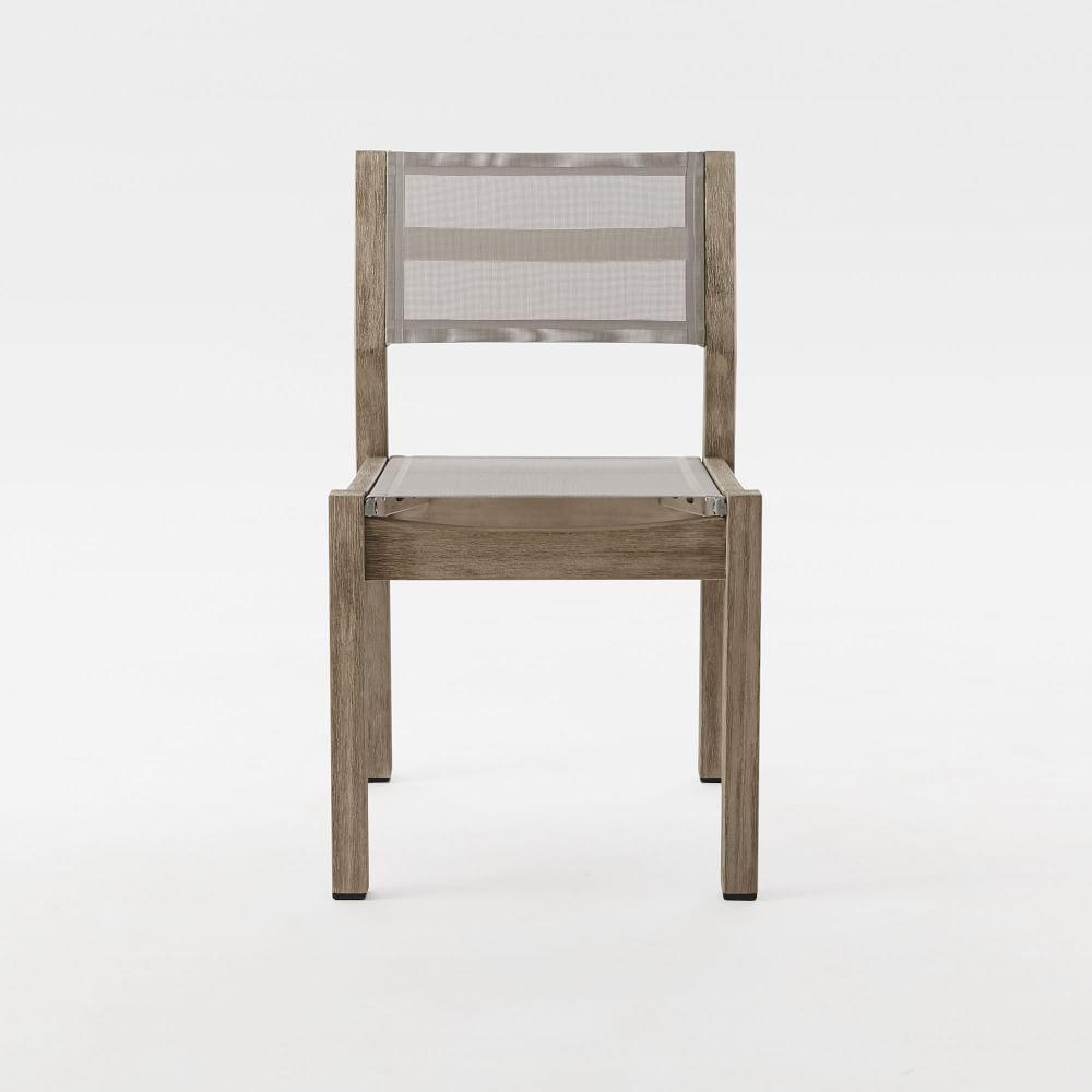 Portside outdoor textilene dining chair weathered grey