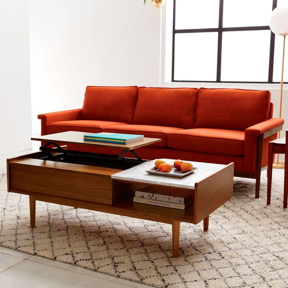 mid century pop up storage coffee table west elm australia
