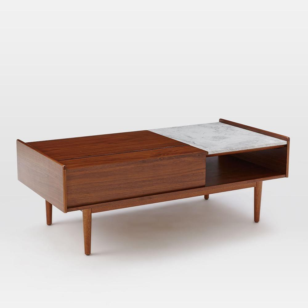 Ikea Mid Century Modern Coffee Table: Mid-Century Pop-Up Storage Coffee Table
