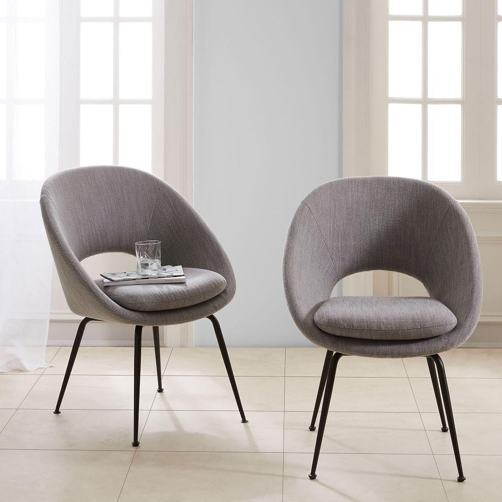 orb upholstered dining chair  antique bronze legs  west elm au -  orb upholstered dining chair  antique bronze legs