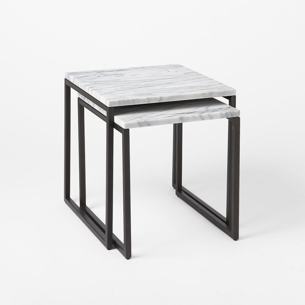 Box Frame Nesting Tables Marble