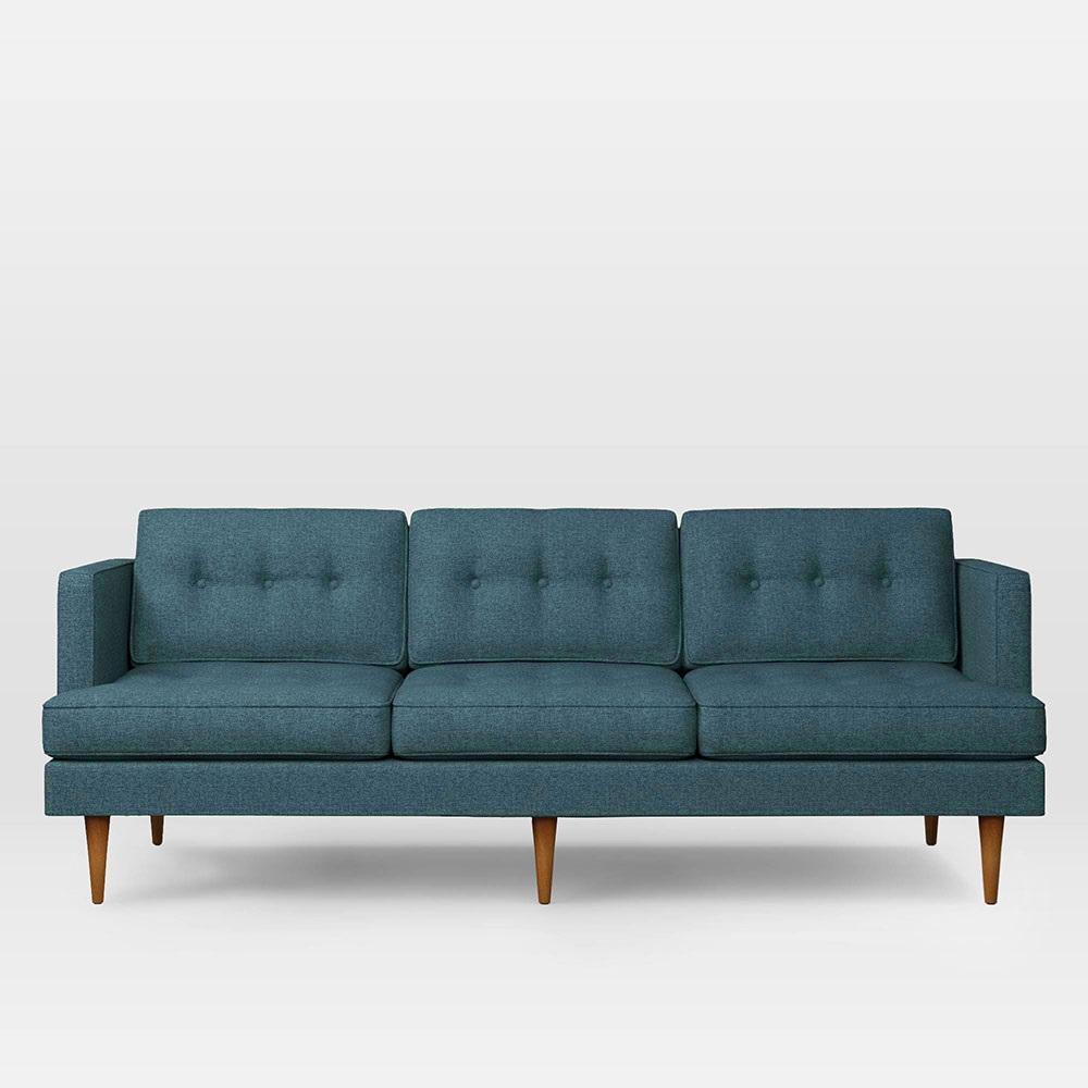 Peggy Mid Century Sofa Teal 202 Cm West Elm Au