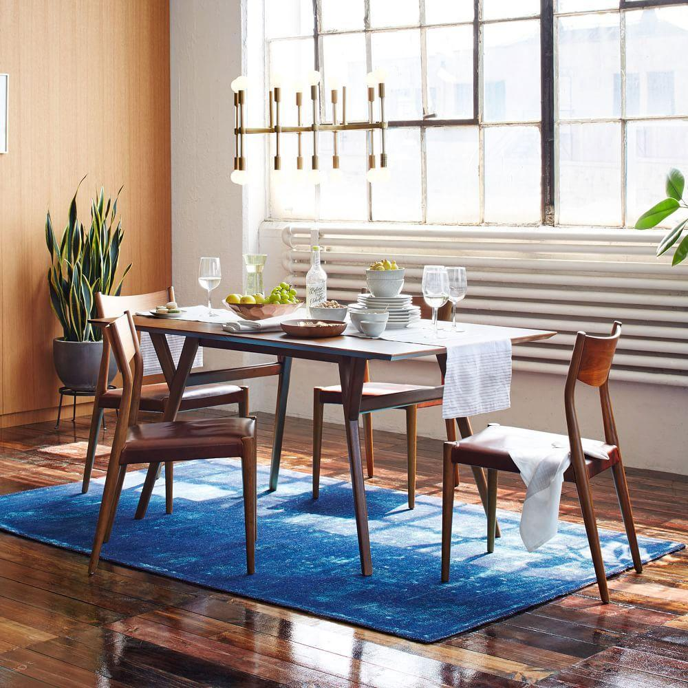 Mid-Century Expandable Dining Table - Walnut | west elm Australia