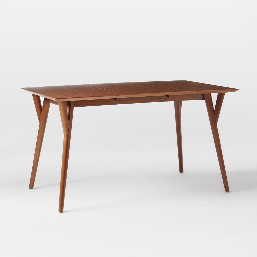 midcentury expandable dining table  walnut  west elm au - midcentury expandable dining table  walnut