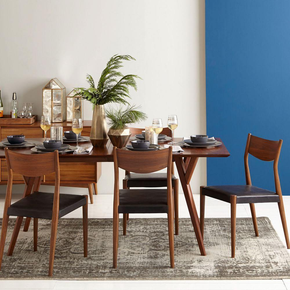 Mid-Century Expandable Dining Table - Walnut | west elm AU