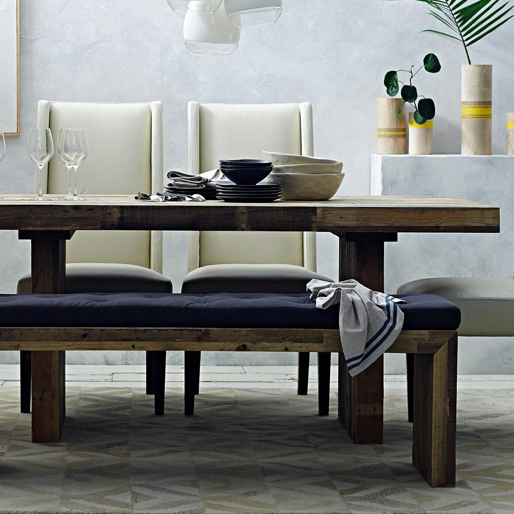 """Emmerson Reclaimed Wood Dining Bench: Emmersonâ""""¢ Reclaimed Wood Dining Table"""