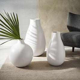 Oversized Pure White Ceramic Vases