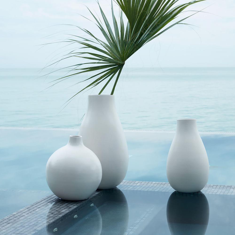 Oversized Pure White Ceramic Vases