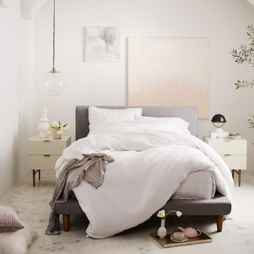 70eb8ce20d Mod Upholstered Bed - Feather Grey | west elm Australia