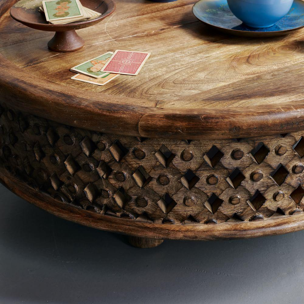 Carved wood coffee table west elm australia