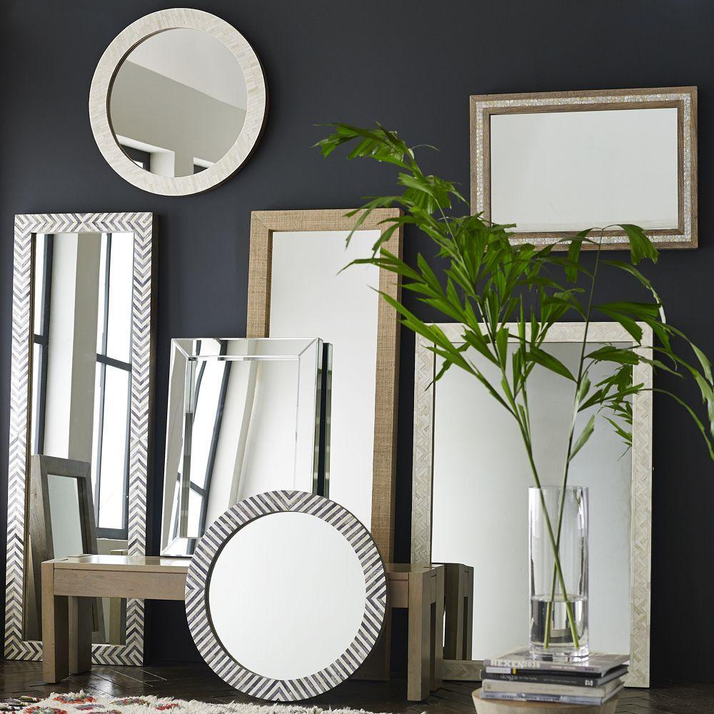 Parsons round mirror bone inlay west elm au parsons round mirror bone inlay amipublicfo Image collections