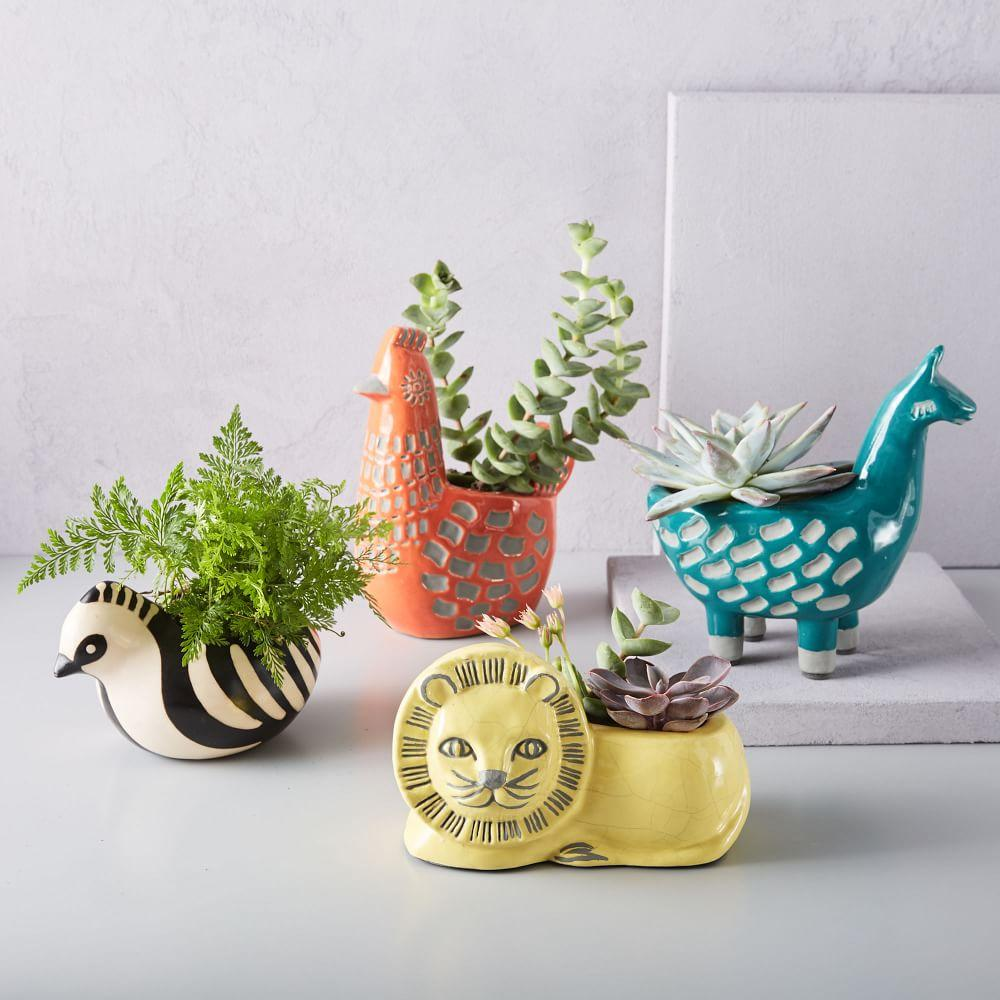 Ceramic Animal Planters West Elm Australia