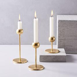 Modern Brass Candleholders