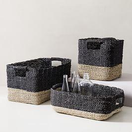 Two-Tone Woven Baskets