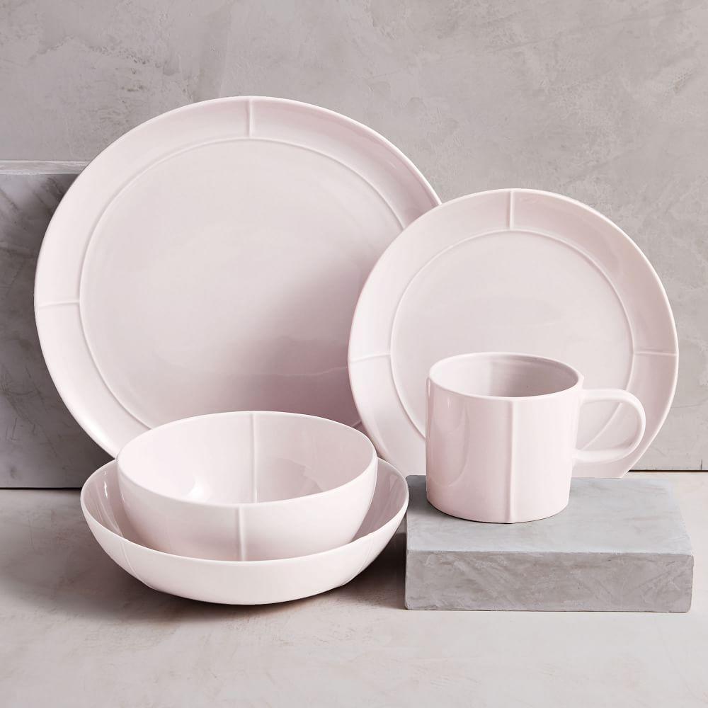 Seam Dinnerware Pale Pink West Elm Australia