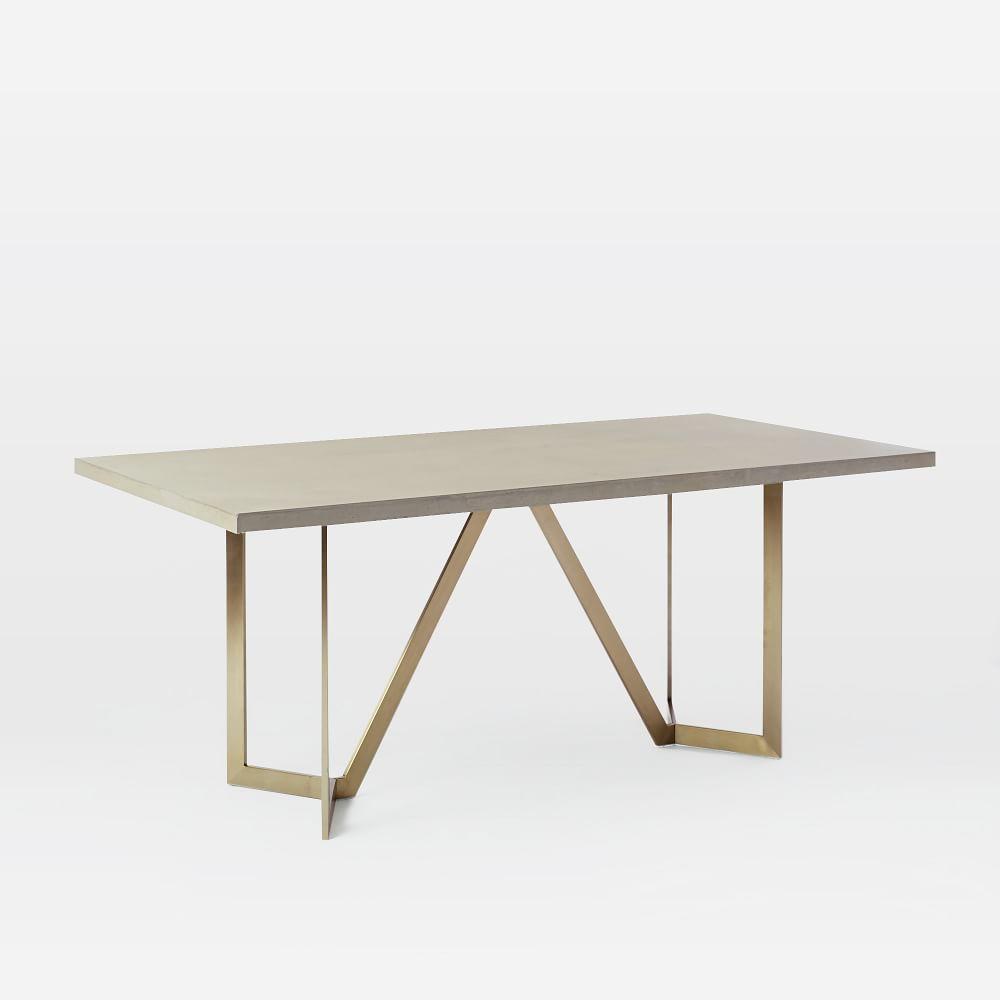Tower Dining Table Concrete west elm AU