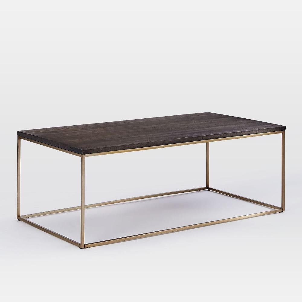 Streamline coffee table umber antique brass west elm au Antique brass coffee table
