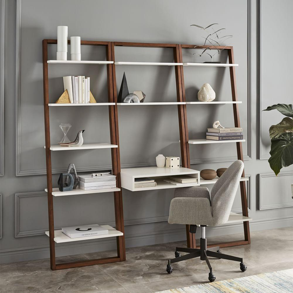 ladder shelf desk wide bookshelf set west elm australia. Black Bedroom Furniture Sets. Home Design Ideas