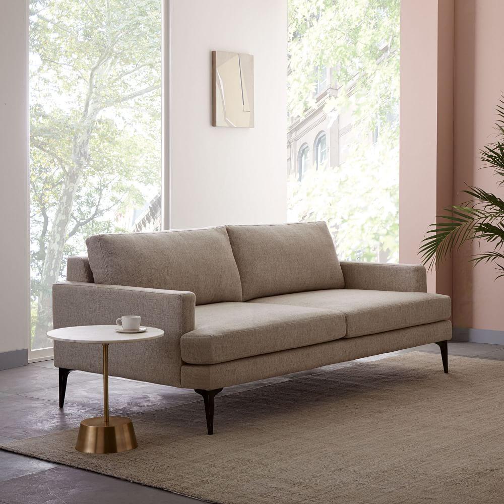 Andes Sofa 194 Cm Stone Twill West Elm Australia