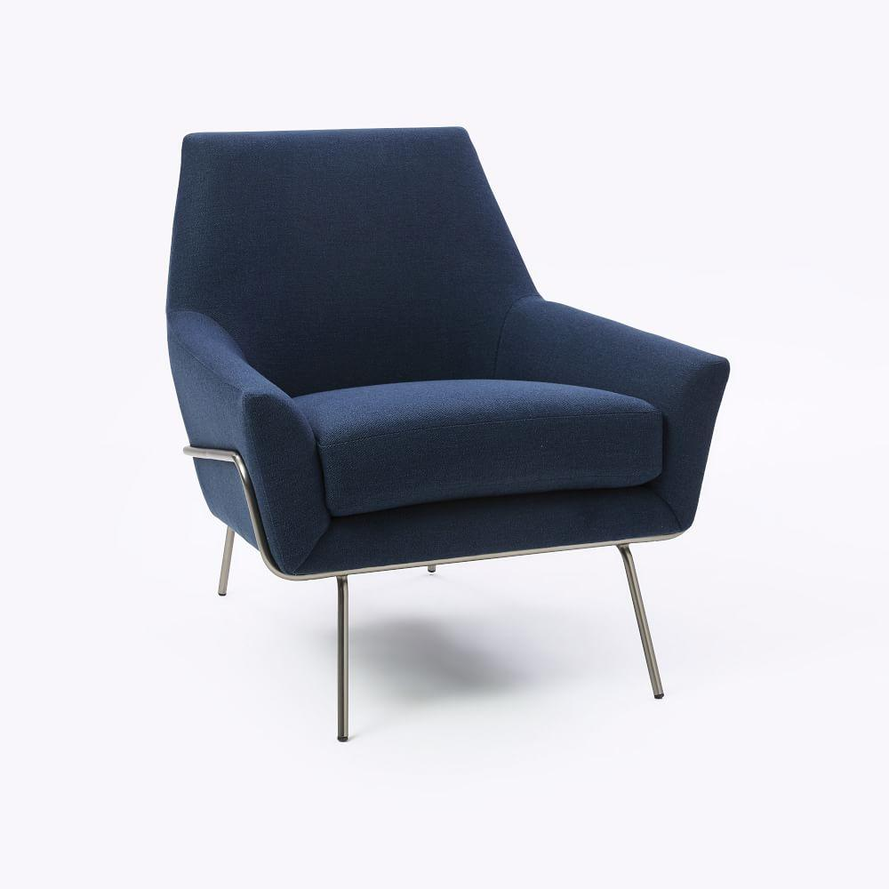 Lucas Wire Base Chair - Regal Blue