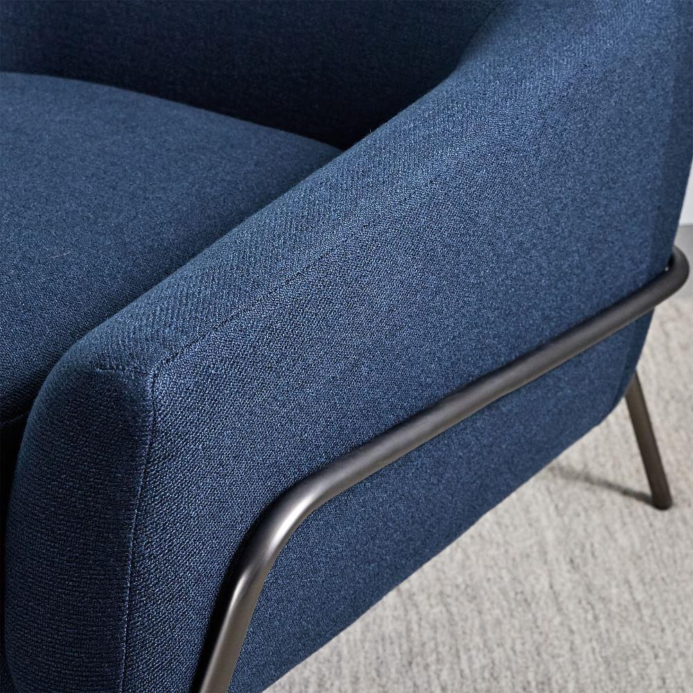 Lucas Wire Base Chair - Regal Blue | west elm Australia