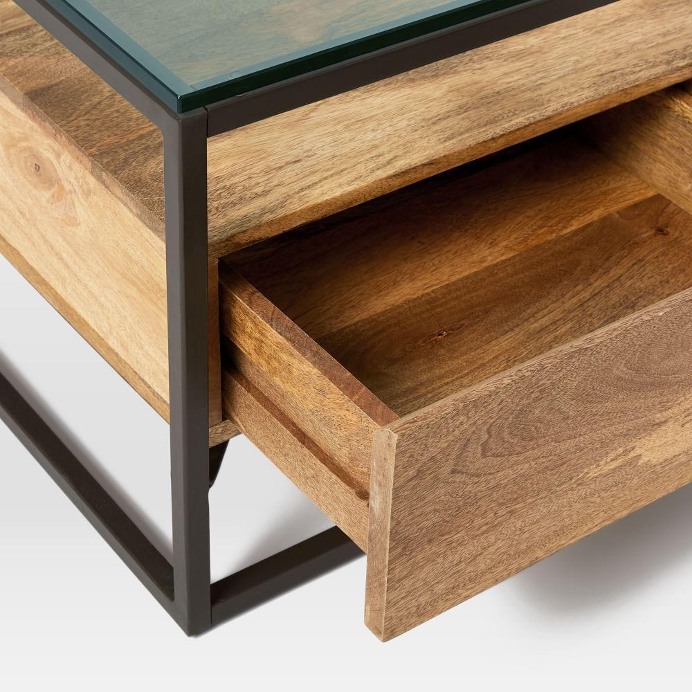 Storage Coffee Table Pine: Box Frame Storage Coffee Table