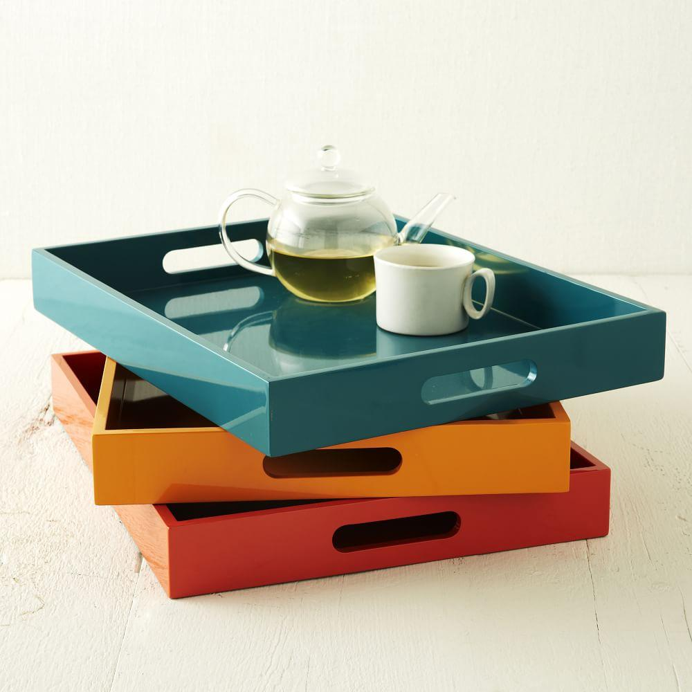 Lacquer Trays Small Rectangle West Elm Au