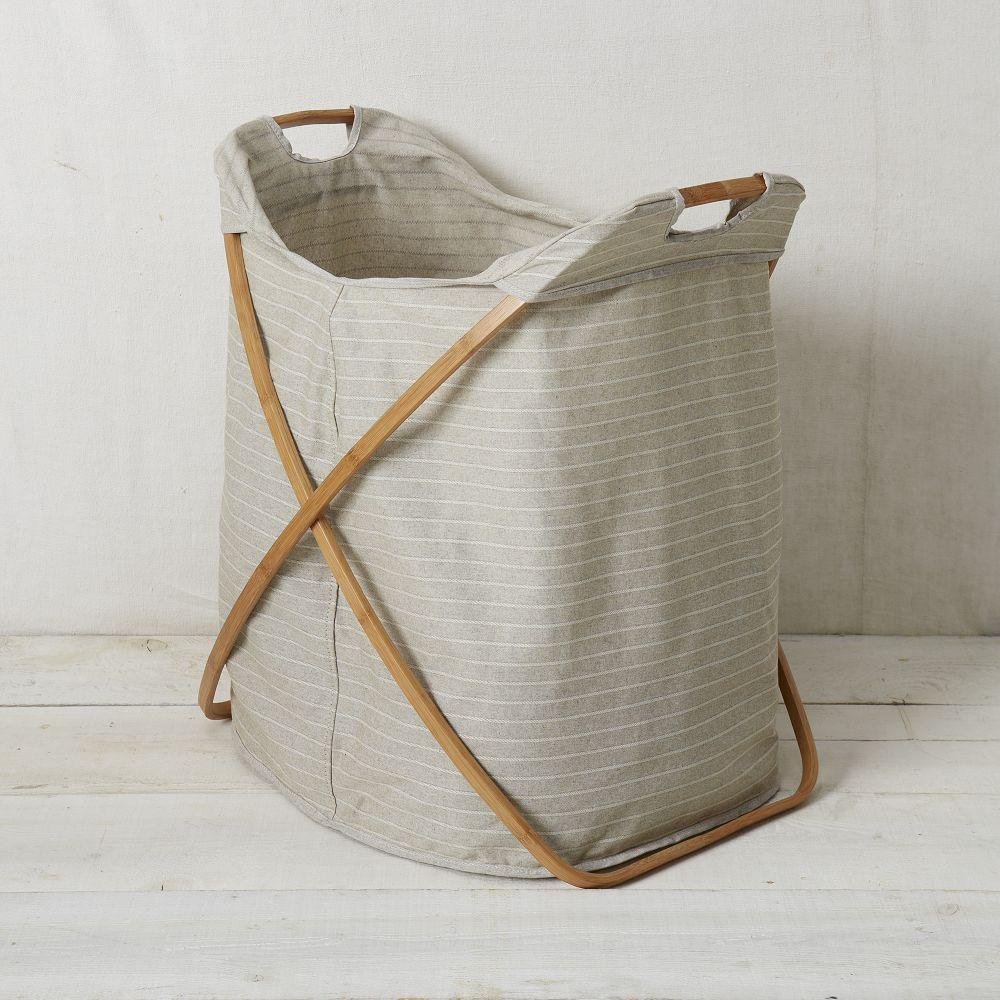 Bamboo laundry hamper double - Bamboo clothes hamper ...