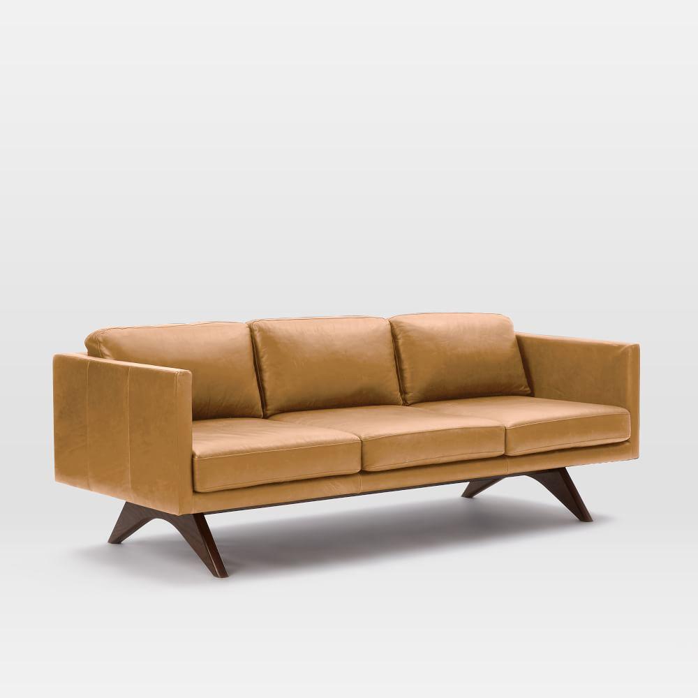 Brooklyn Leather Sofa Sienna 206 Cm West Elm Au