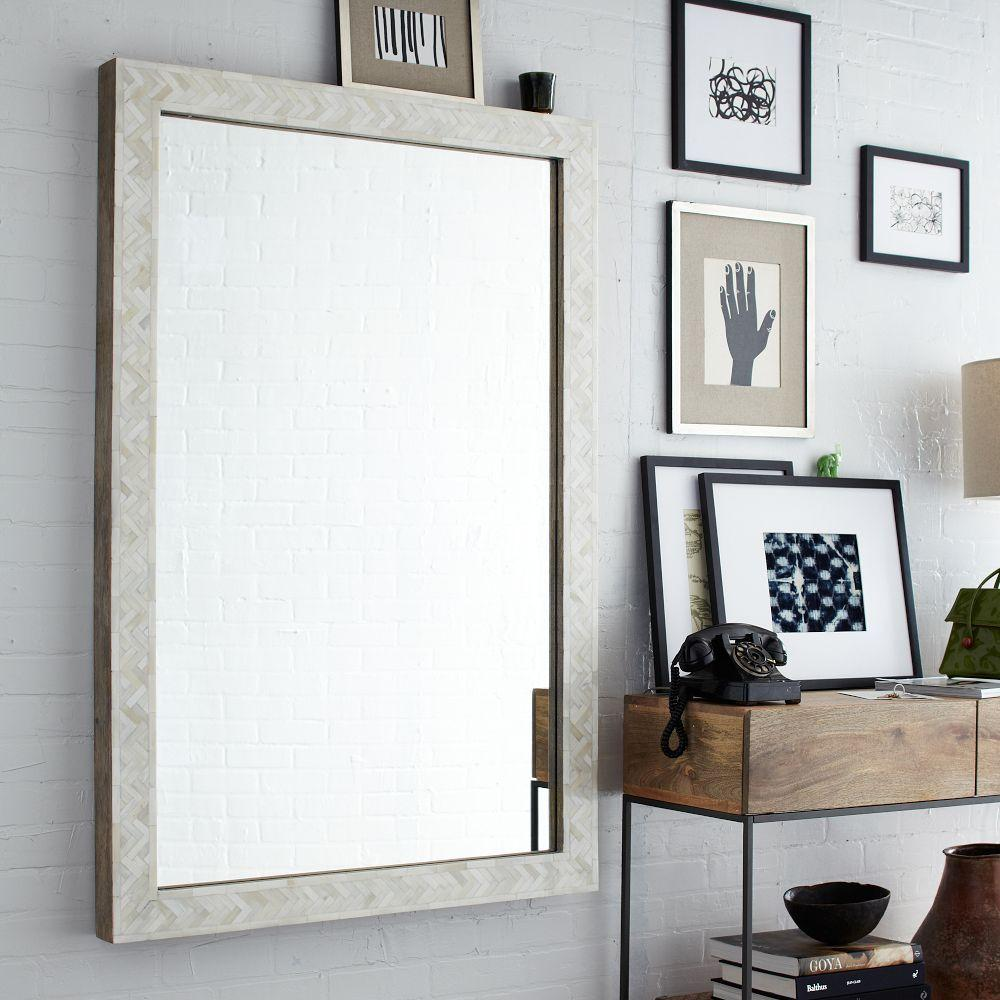 Modern furniture home decor home accessories west elm for Big wall mirror for living room
