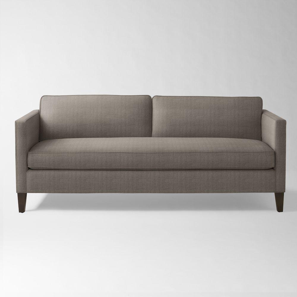Dunham down filled sofa box cushion gravel for Sectional sofa down cushions