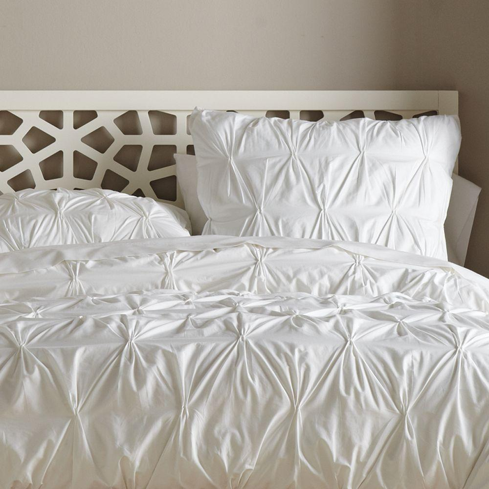 Organic Cotton Pintuck Quilt Cover + Pillowcases