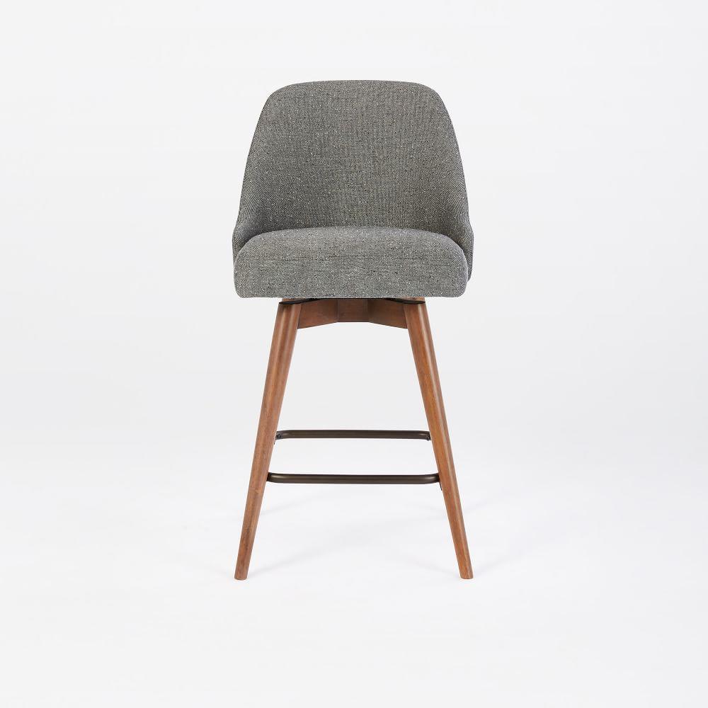 Mid century swivel bar stool