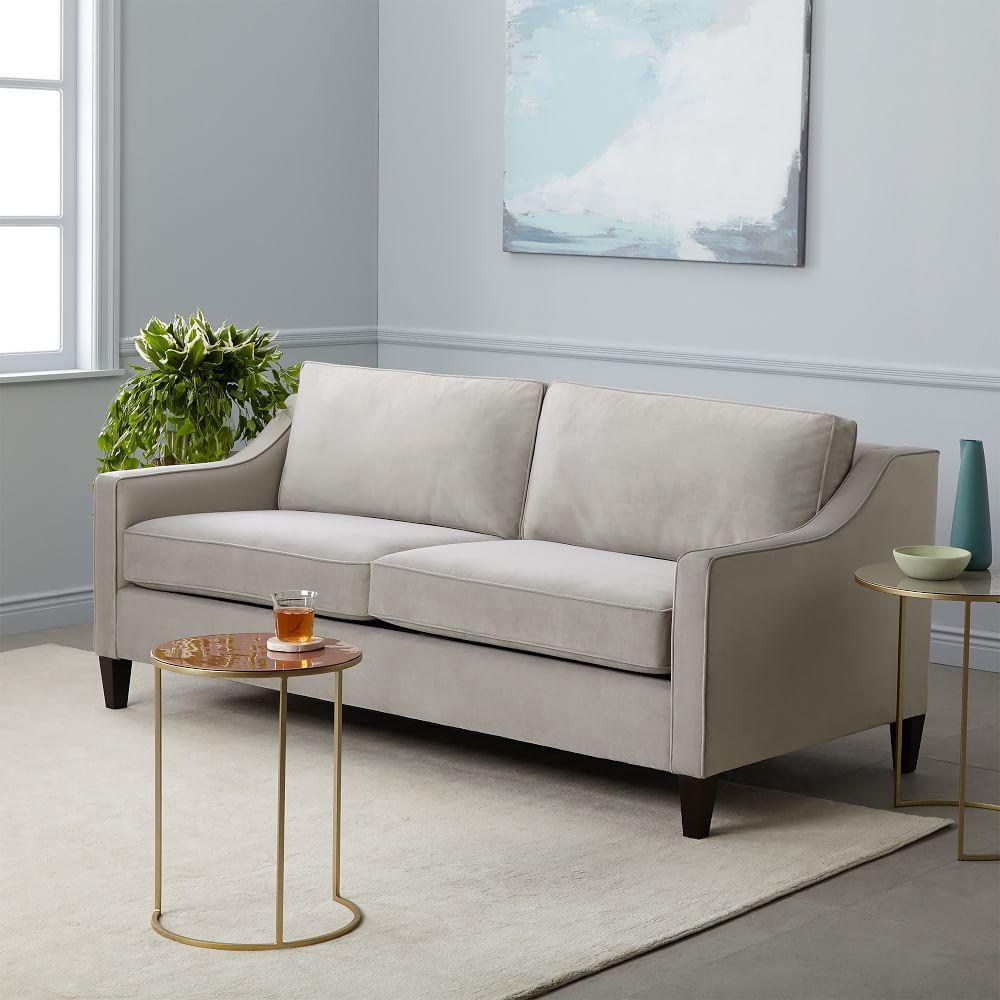 paidge queen sleeper sofa 204 cm dove grey performance velvet west elm australia. Black Bedroom Furniture Sets. Home Design Ideas