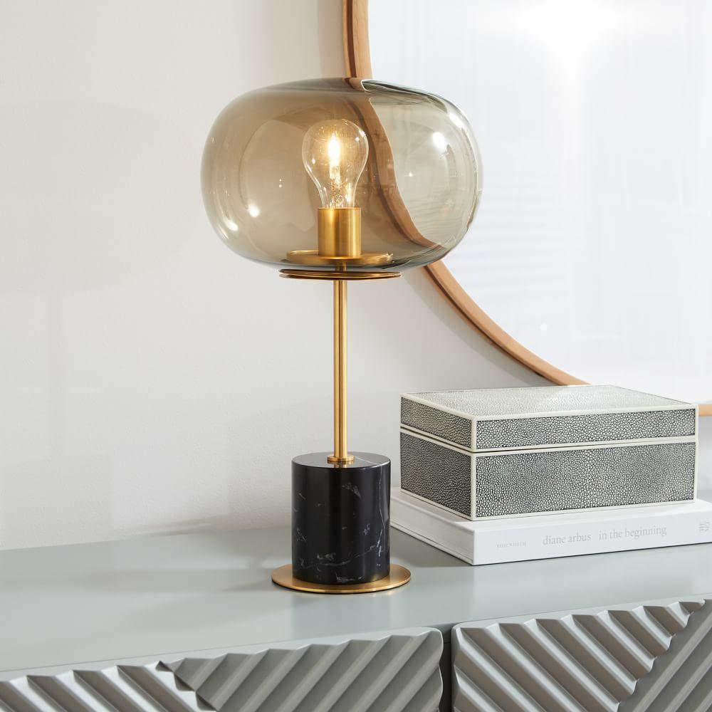Balloon glass table lamp black marble west elm australia balloon glass table lamp black marble aloadofball Gallery