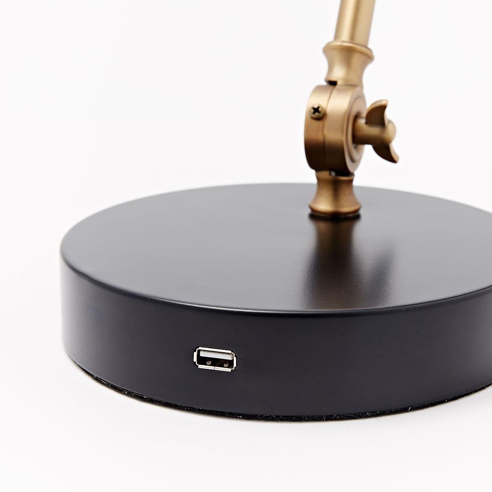 Industrial Task Table Lamp + USB