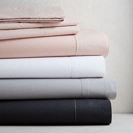 Organic Washed Cotton Sheet Set - Platinum