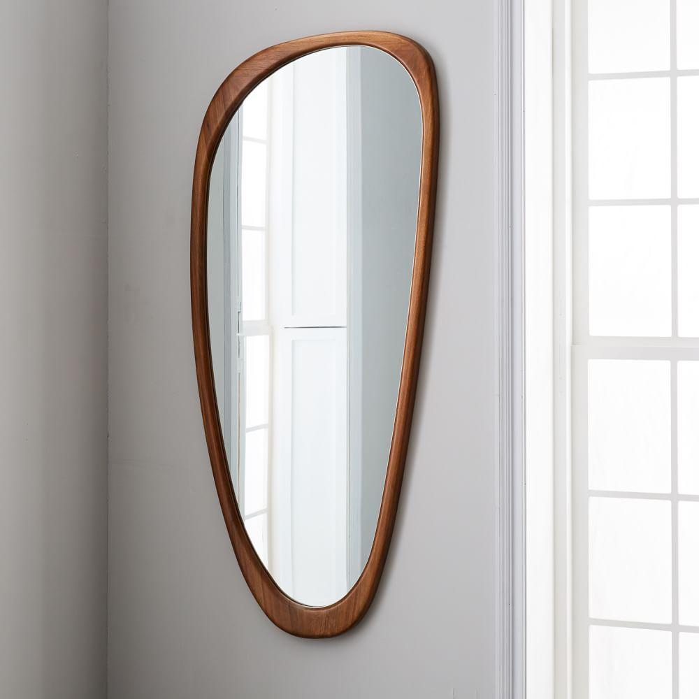 Mid Century Asymmetrical Floor Mirror West Elm Australia