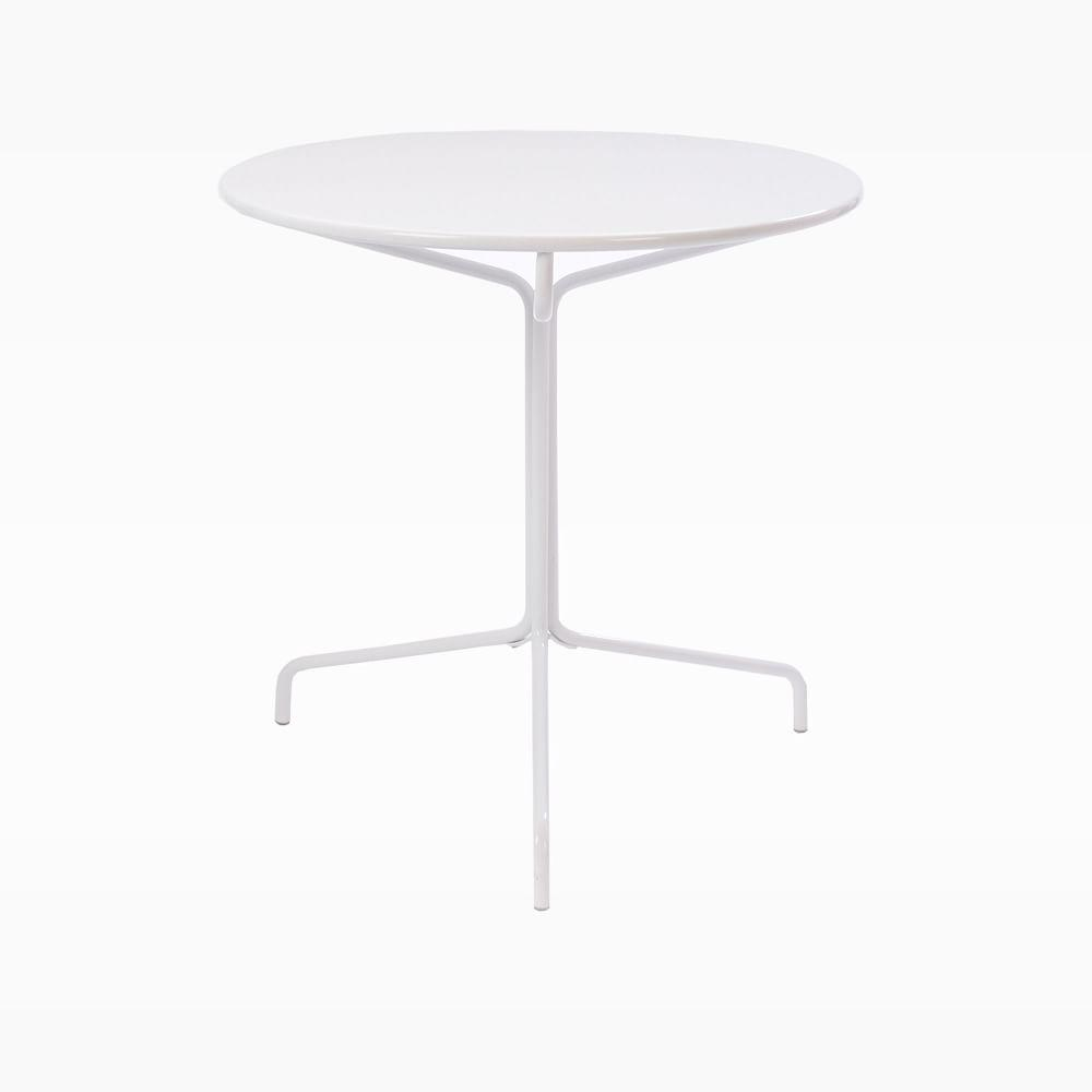 Soleil Outdoor Metal Bistro Table - White