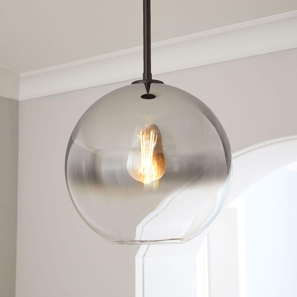 Sculptural Glass Globe Pendant - Ombre