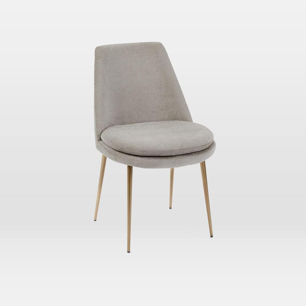 Finley Low Back Velvet Dining Chair West Elm Australia