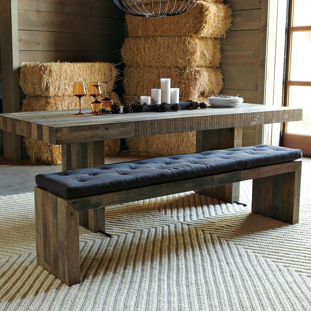 Bench Dining Room Table: Tufted Dining Bench Cushion
