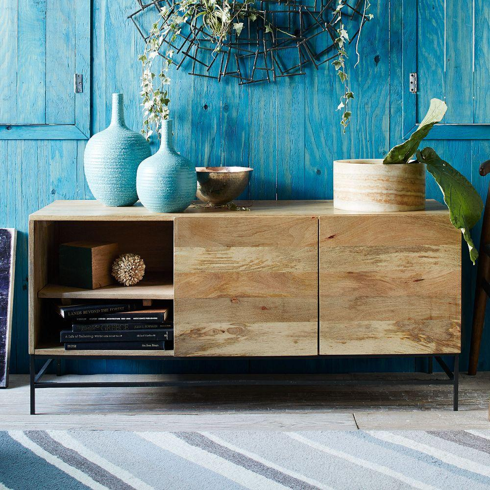 Industrial Storage Media Console 132 Cm West Elm Australia