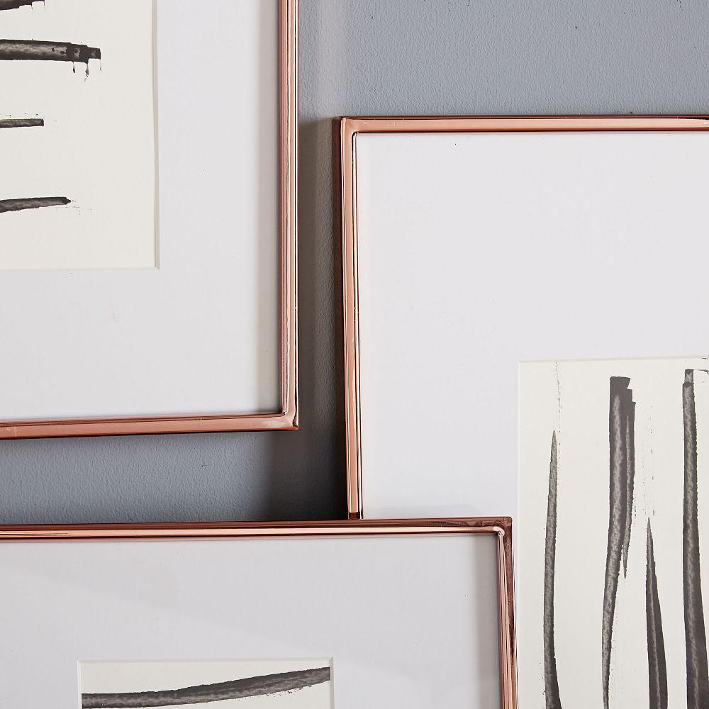 Gallery Frames - Polished Rose Gold | west elm Australia