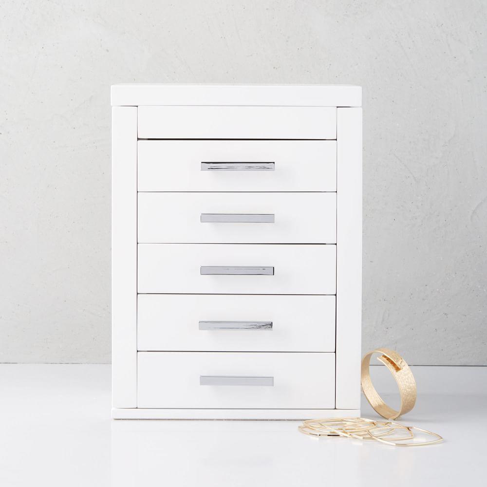 Mid-Century Box, Vertical (White Lacquer)