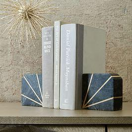 Stone Bookend - Grey Marble