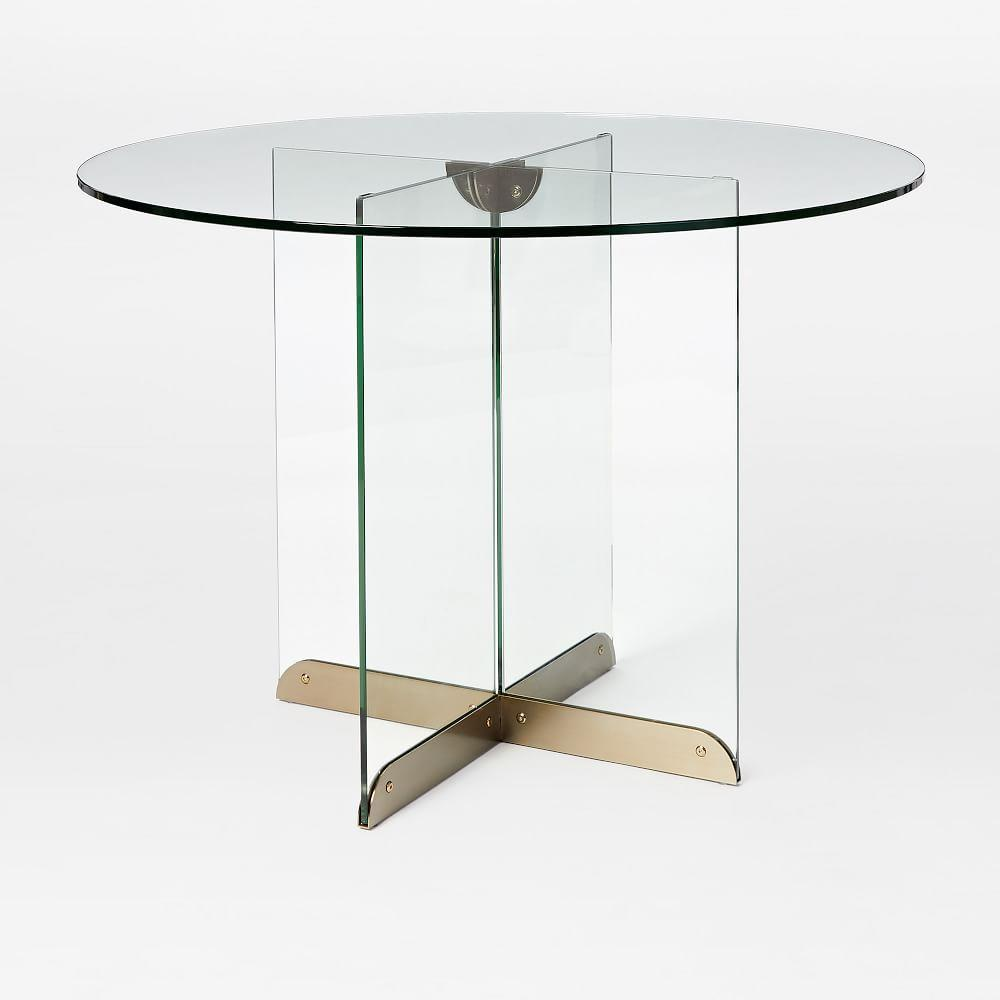 Calliope Glass Dining Table West Elm Australia - West elm round glass dining table